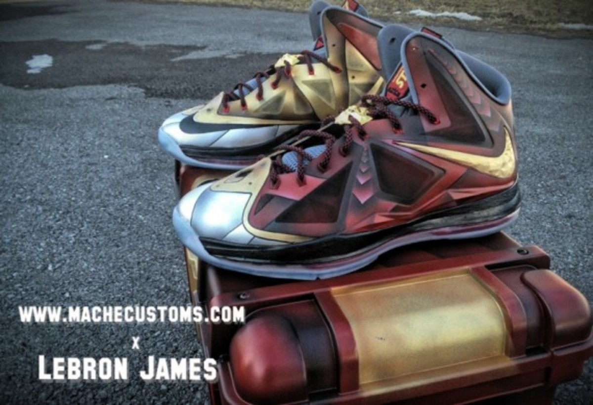 Nike LeBron X Ironman 3 Customs by Mache for LeBron James - 3