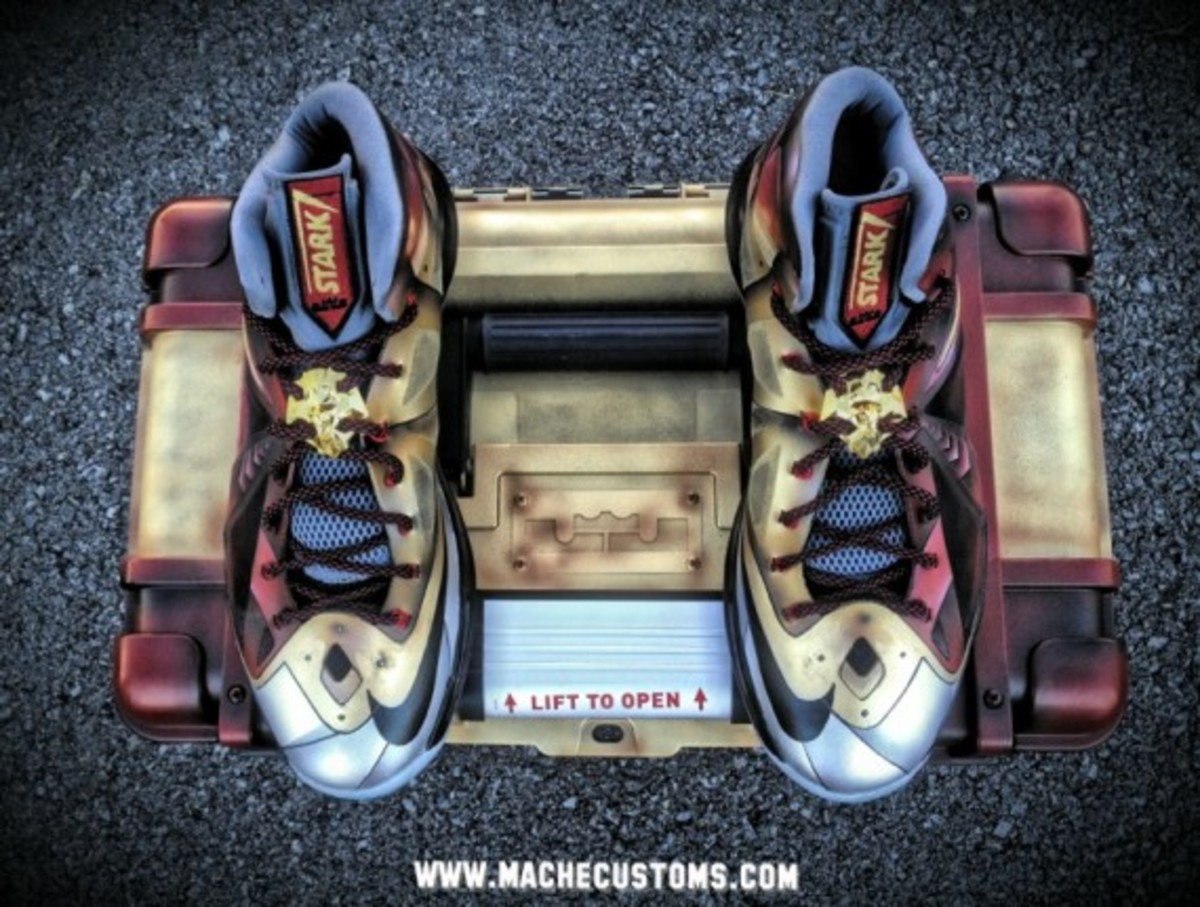 Nike LeBron X Ironman 3 Customs by Mache for LeBron James