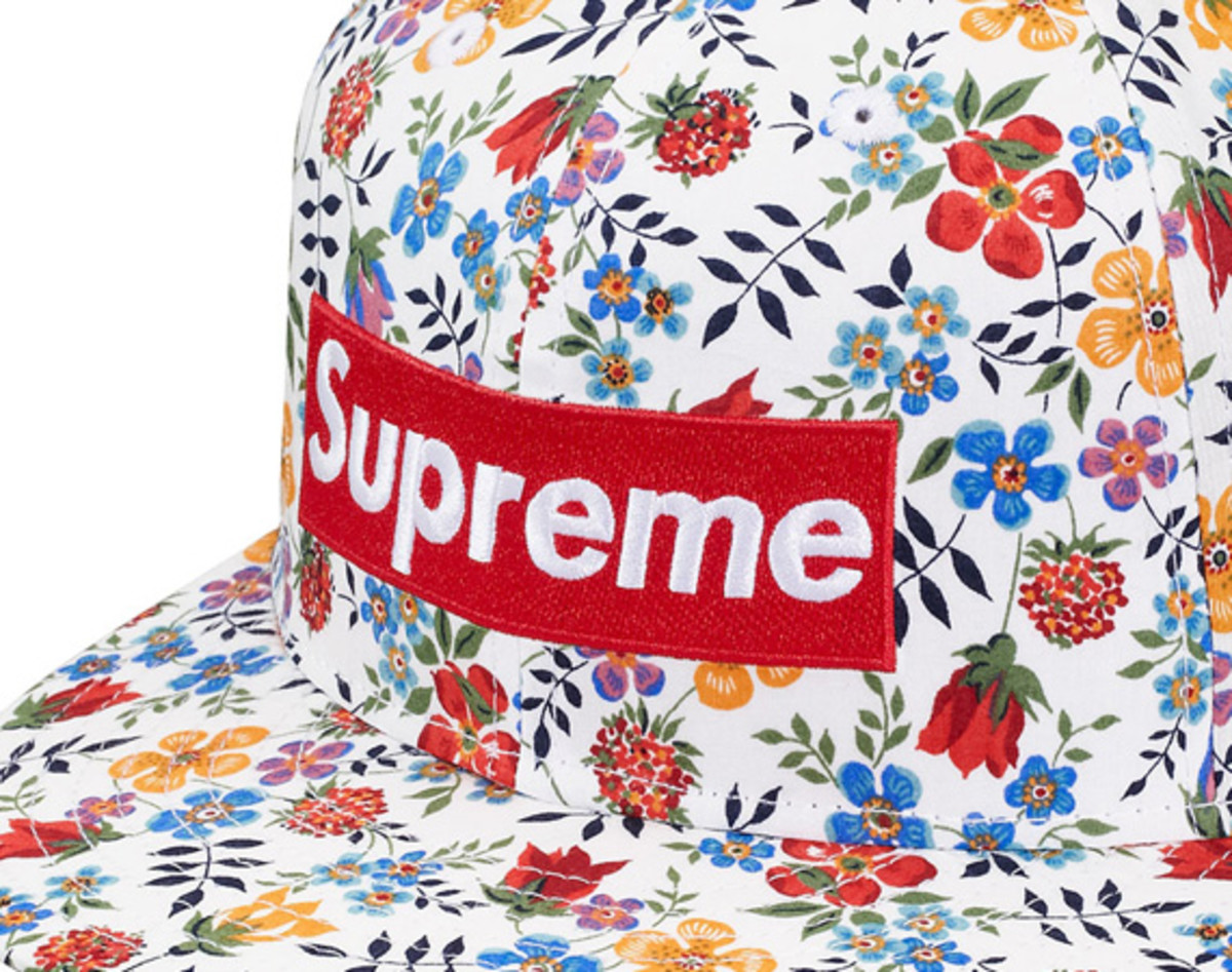 Supreme x Liberty x New Era – Floral Box Logo 59FIFTY Fitted Cap ... 8e68d715a9b