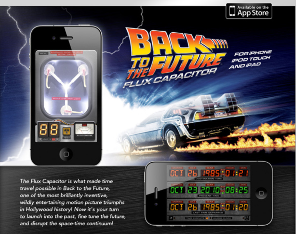 Pocketable Back To The Future Flux Capacitor Iphone App