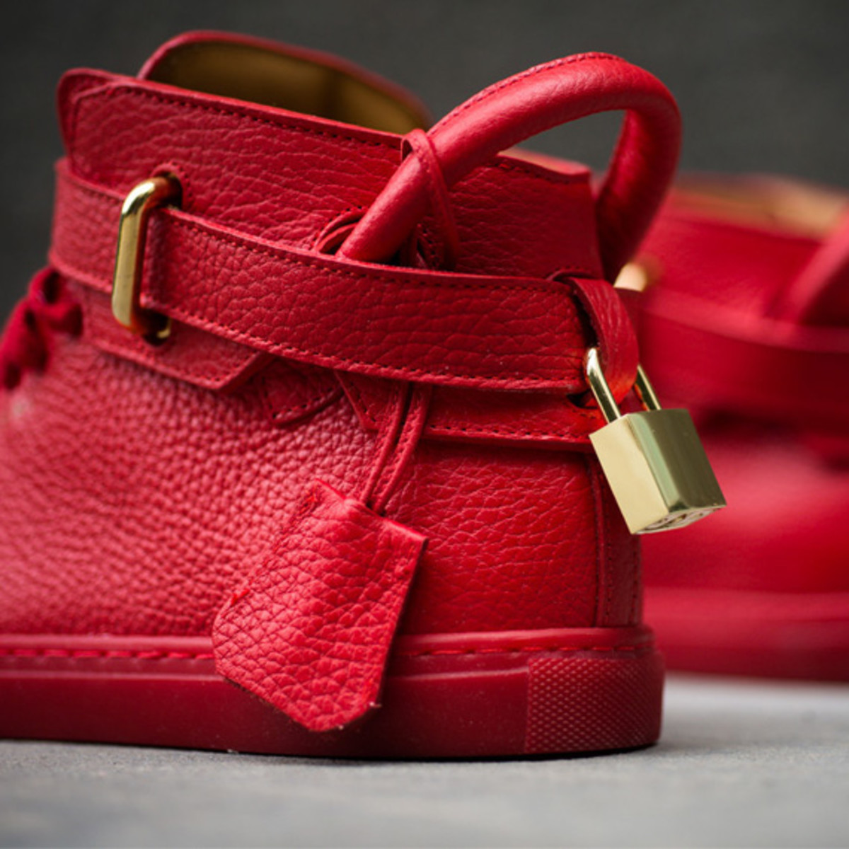 BUSCEMI 100mm Shoe - Red - Freshness Mag