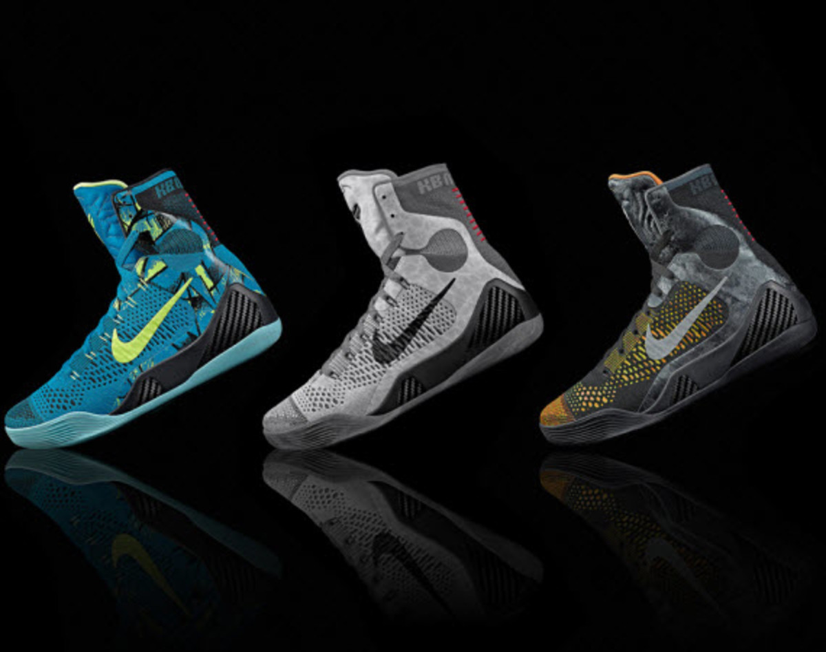 official photos d8a2d 15065 We ve got not one, not two, but three new Nike Kobe 9 Elites here, with  each incorporating in their design the story of Swoosh innovation alongside  the ...