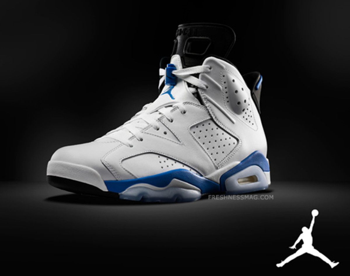 "low priced 816be 21629 ... here and there on the Internet, Jordan Brand finally makes it official  earlier this evening with the first images of Air Jordan 6 Retro ""Sport Blue ."