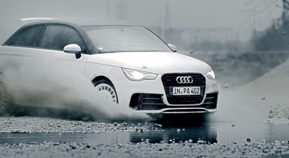 audi a1 quattro does gymkhana in munich video freshness mag. Black Bedroom Furniture Sets. Home Design Ideas