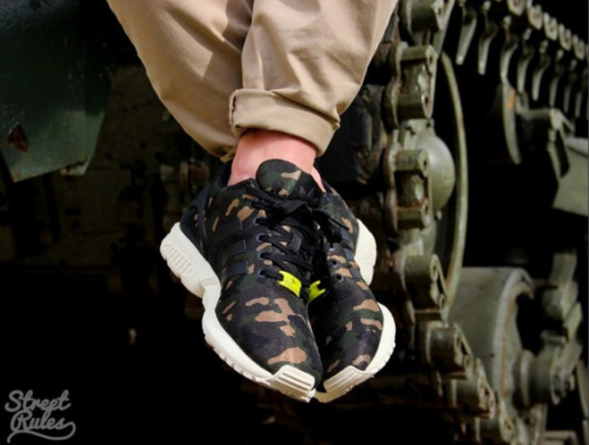 adidas zx flux milan camo foot locker exclusive
