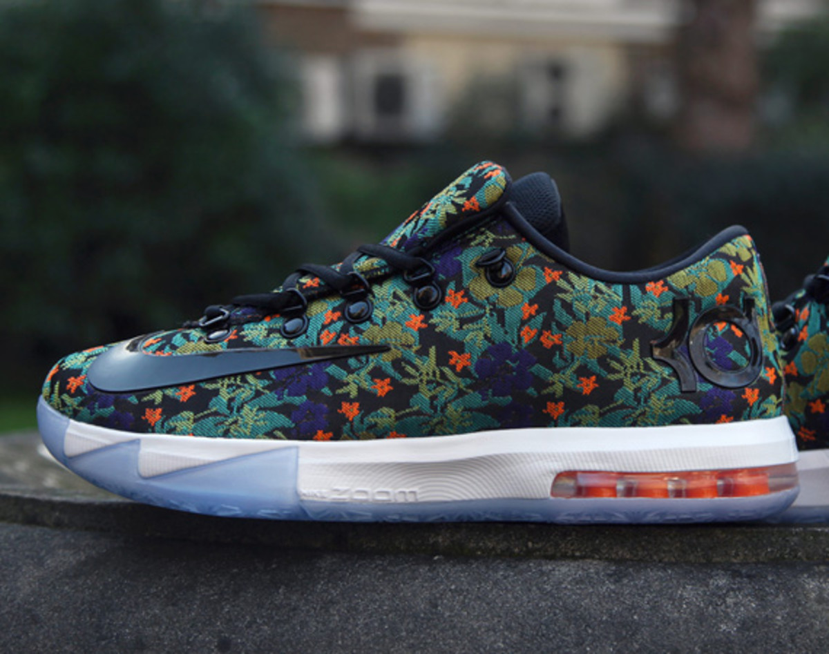 b832dc02419 ... kevin durant 85d04 ee42b  release date made entirely from an  embroidered floral pattern tapestry the nike kd 6 ext qs