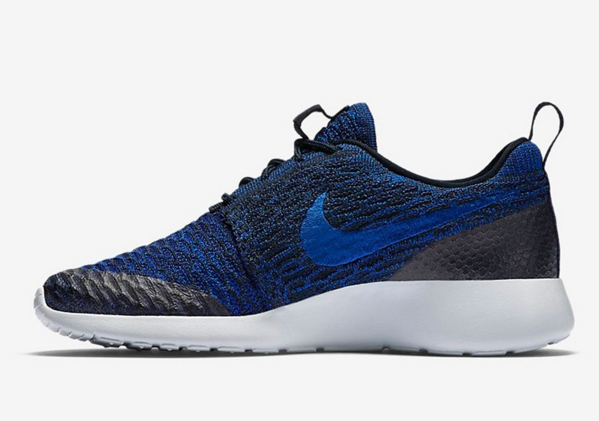 The Nike Flyknit Roshe Run Comes In A Royal Blue and Black