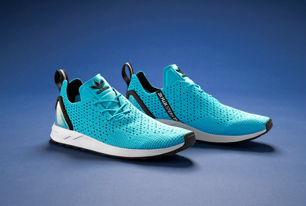 low priced cbe88 475f8 The adidas ZX FLUX Racer Asym Primeknit Gets a Vivid ...