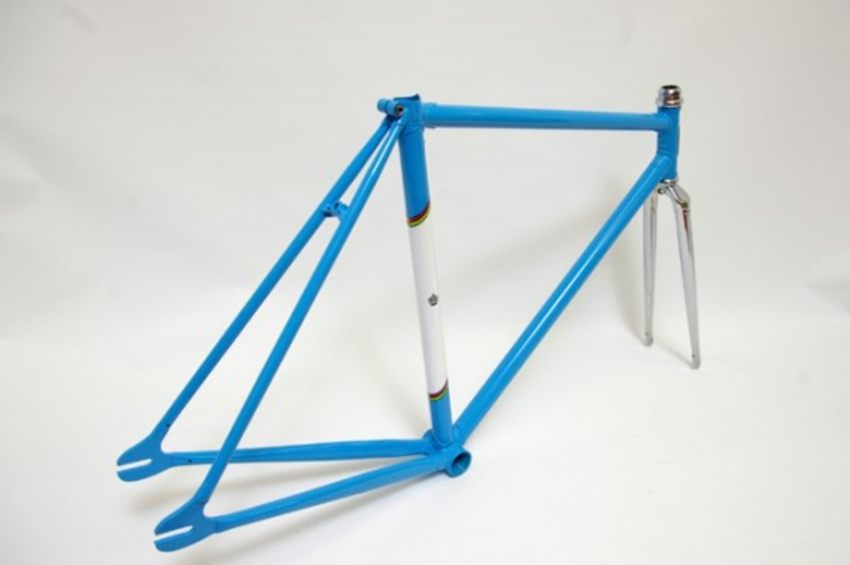 Blue and White Fixed Gear Frame 3