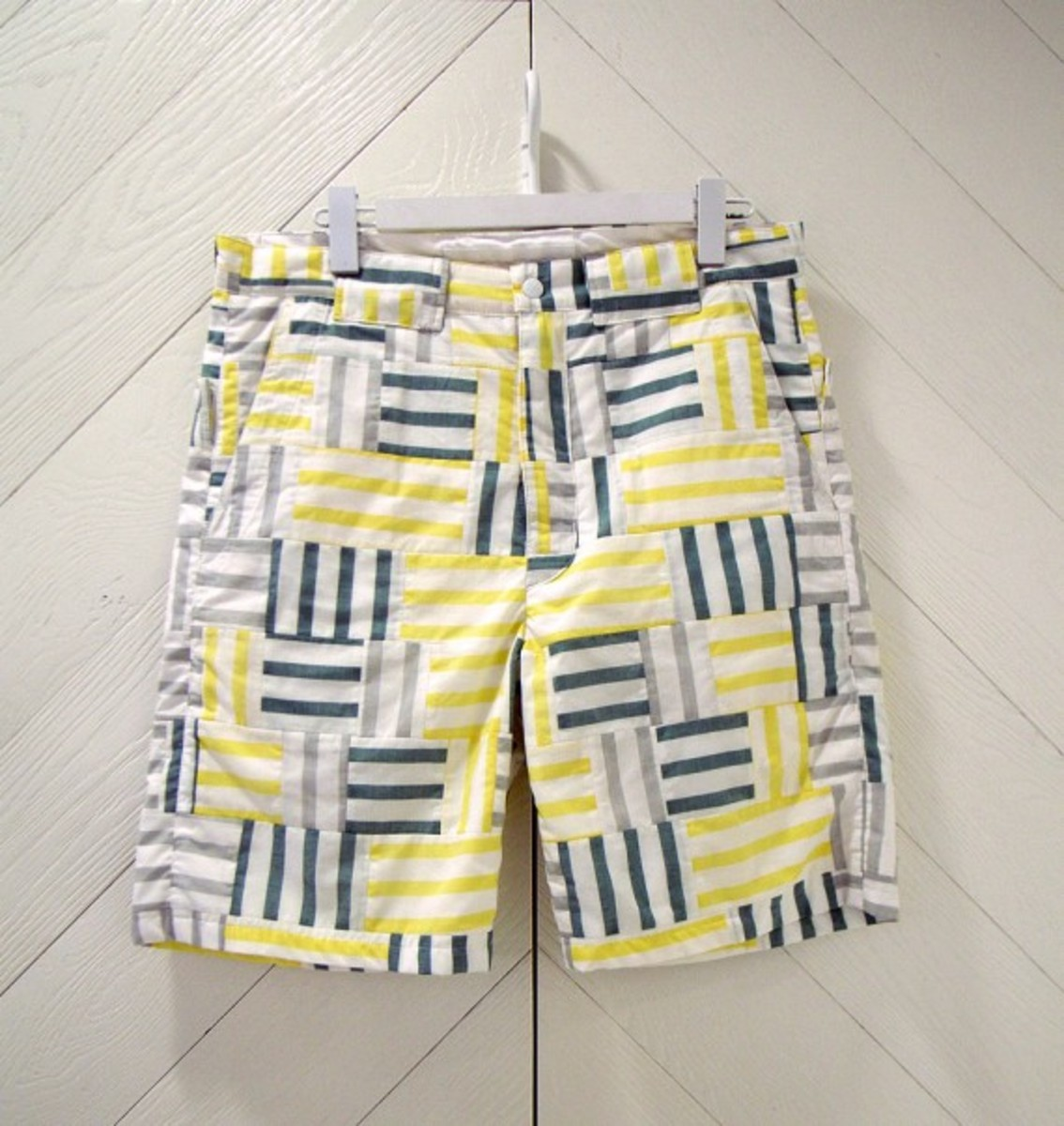 Patchwork Shorts Yellow