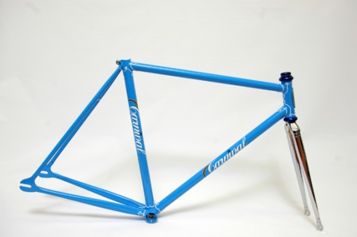Blue Fixed Gear Frame