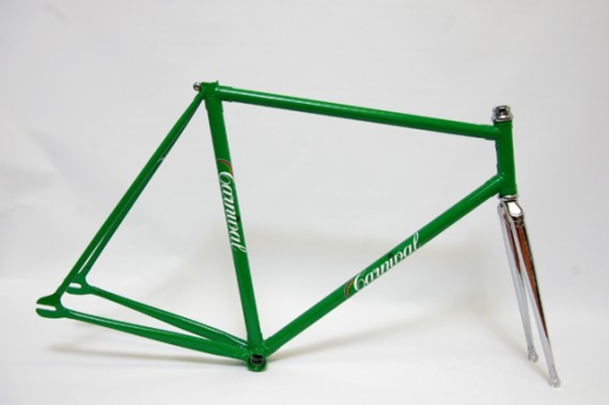 Green Fixed Gear Frame