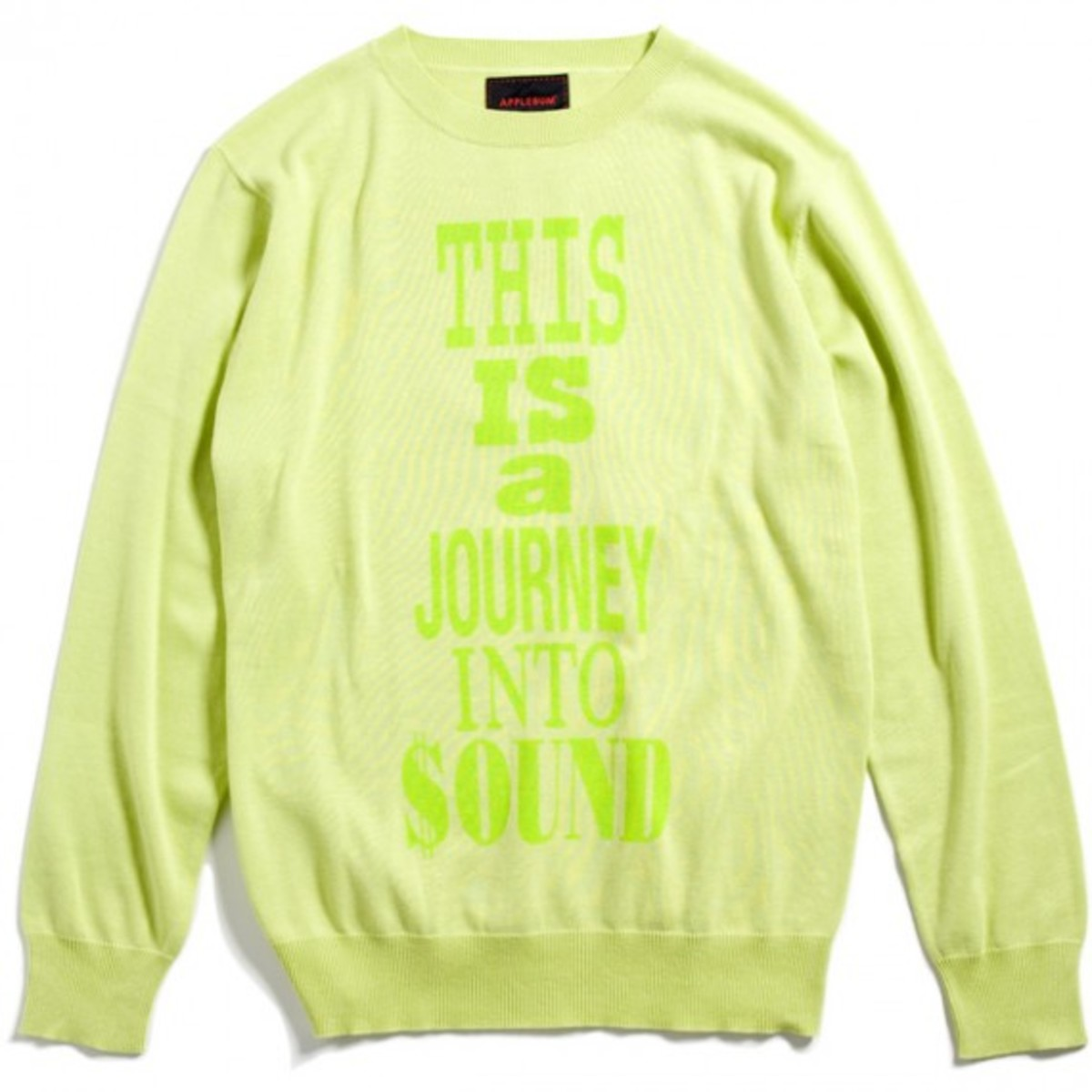 Paid in Full Crew Neck Sweater Lime Green