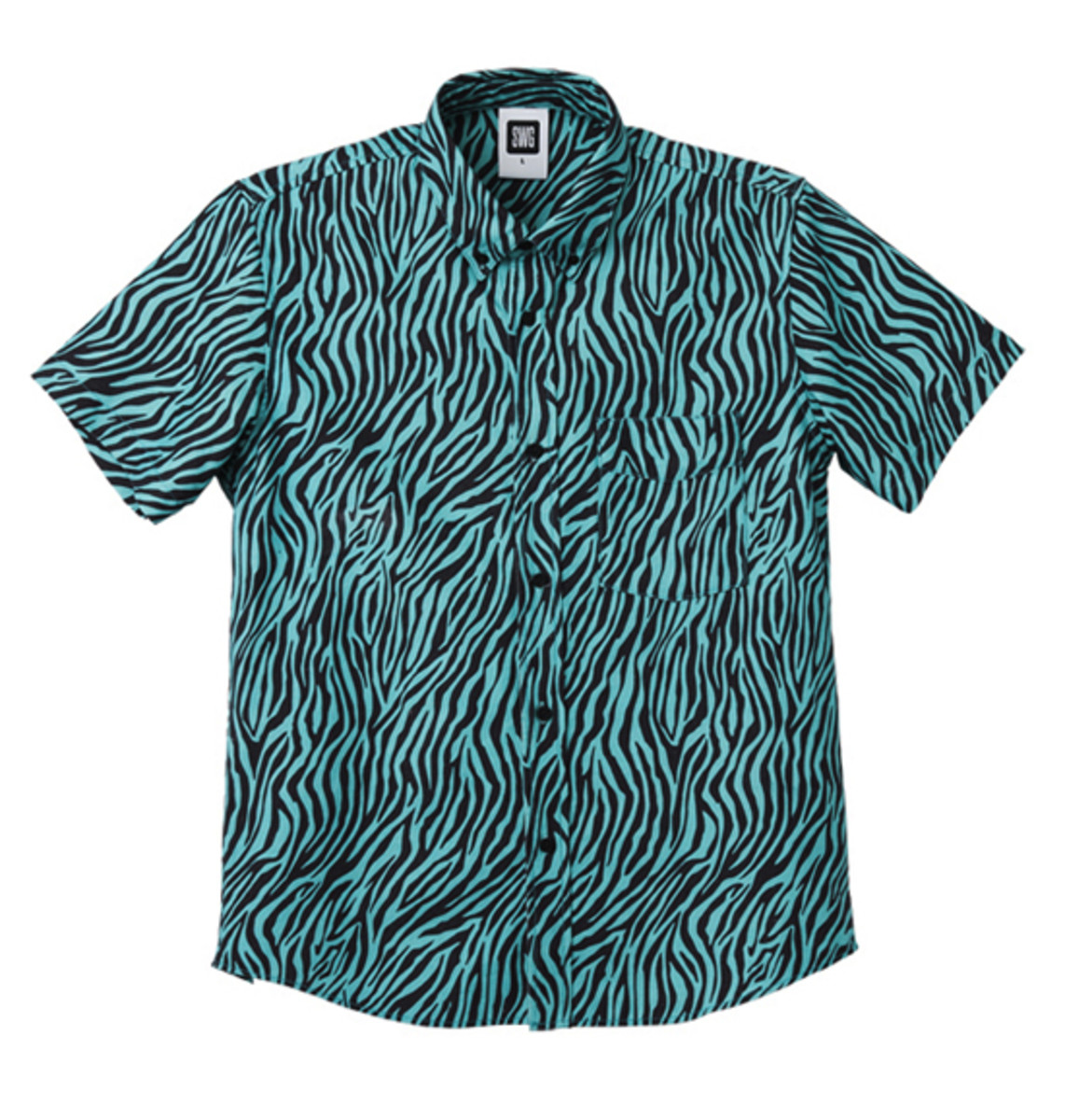 Zebra Button Down Shirt Emerald