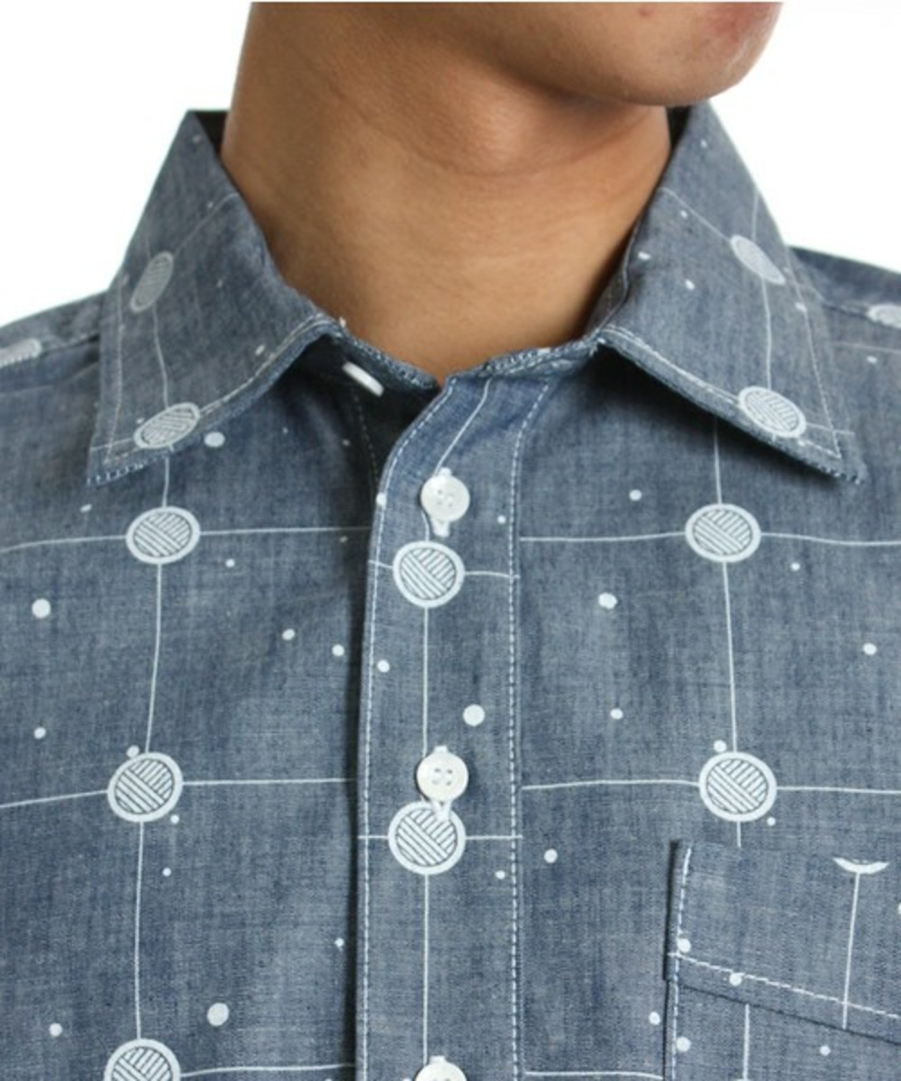 Cosmic Grid Shirt Blue 3