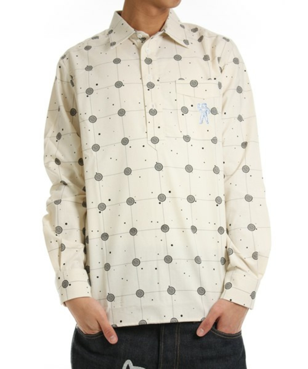 Cosmic Grid Shirt White