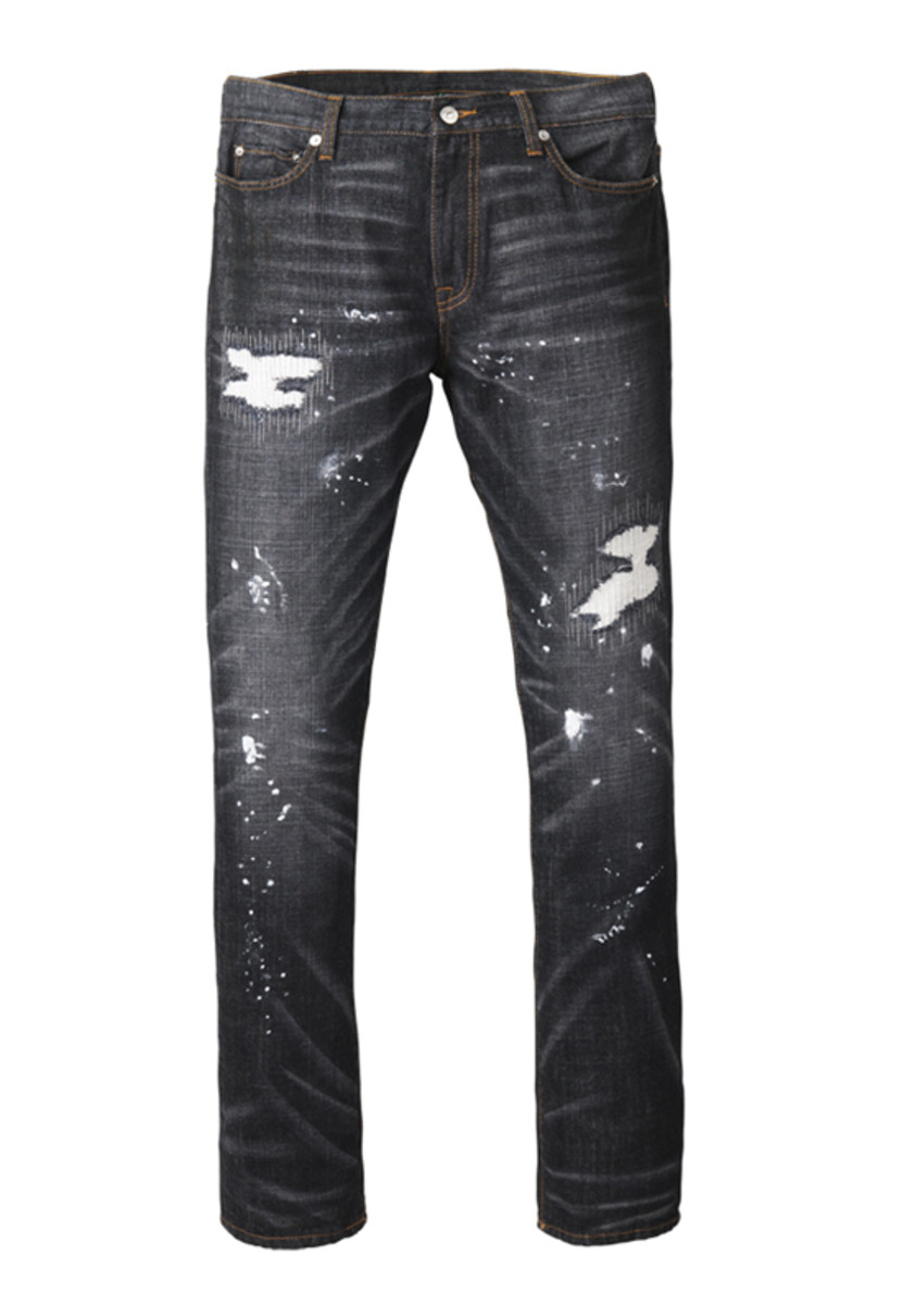 Vintage Denim Pants Black