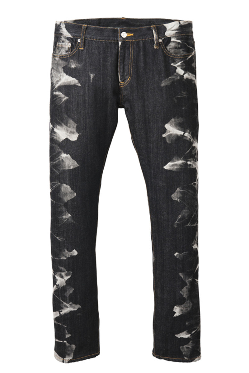 Discharge Denim Pants Black