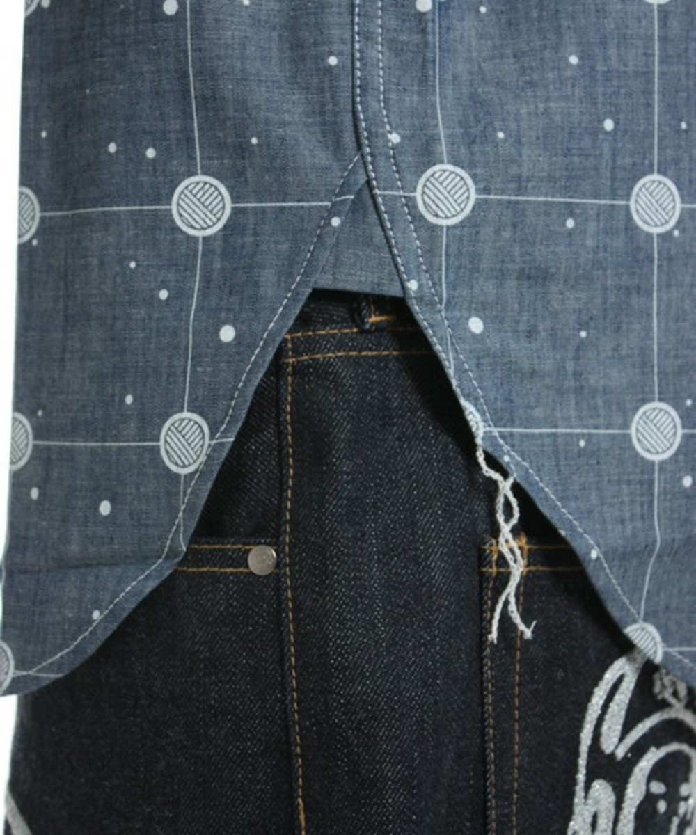 Cosmic Grid Shirt Blue 6