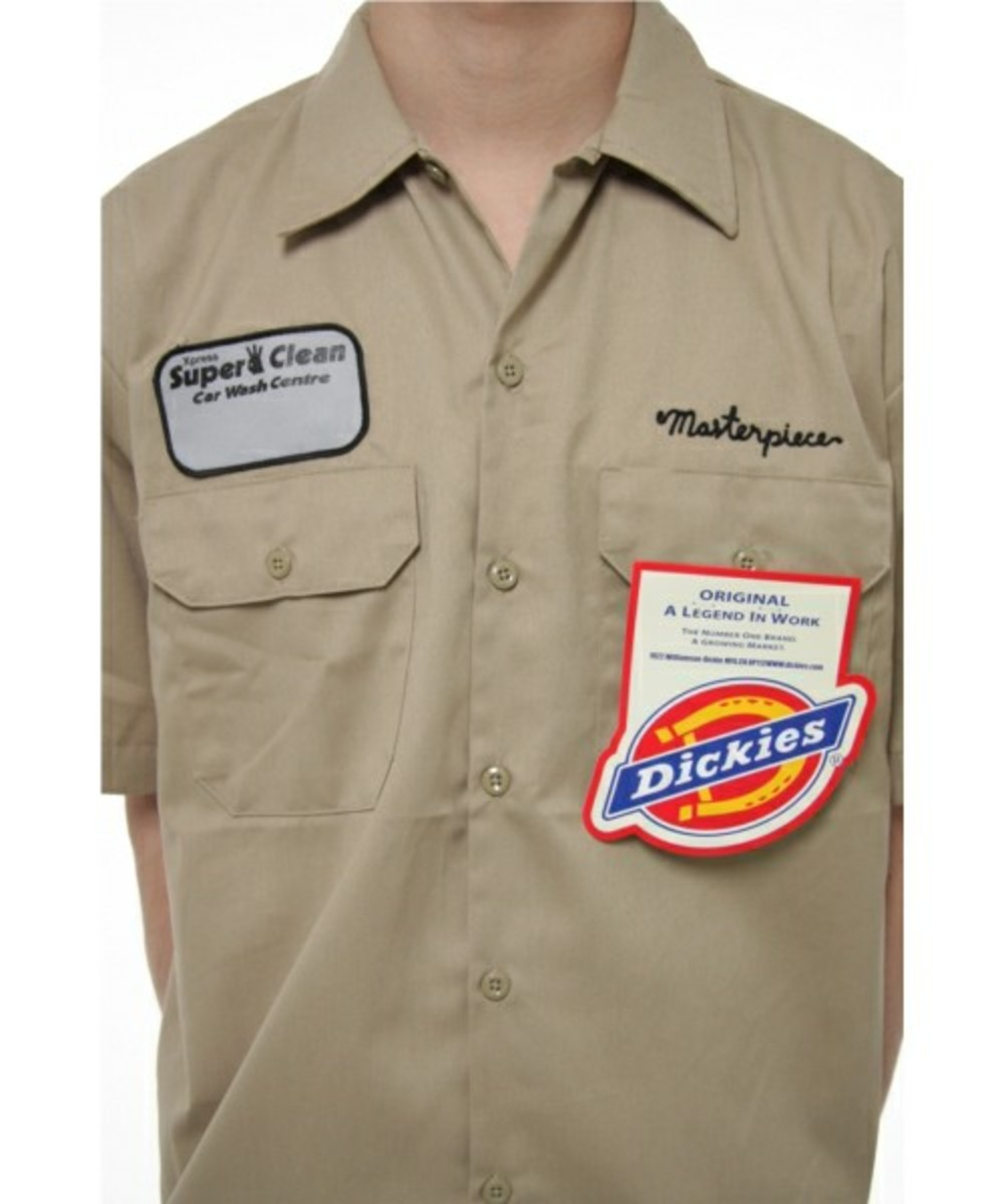 Masterpiece x dickies work shirts freshness mag for Embroidered dickies work shirts