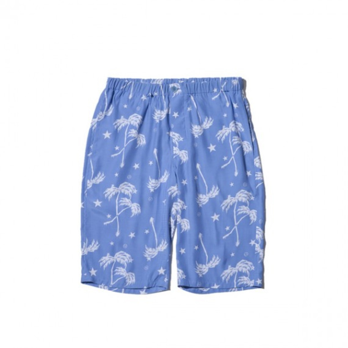 Rayon Spring Summer Palm Tree Easy Shorts