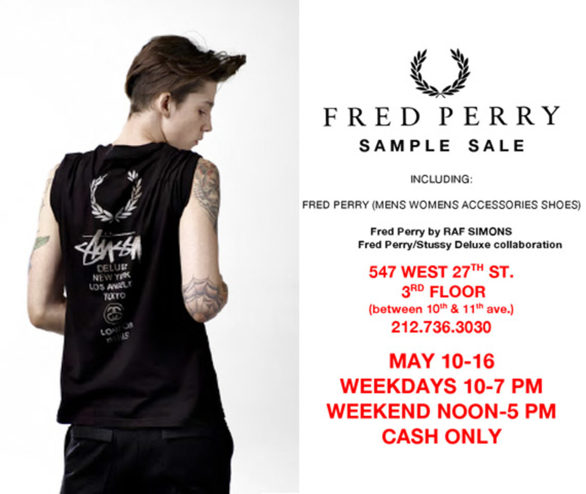 Fred Perry Sample Sale - Freshness Mag