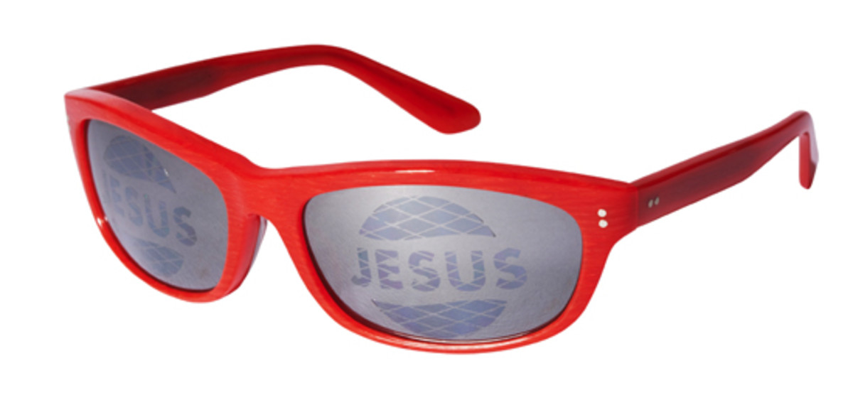 Jesus Sunglass Red