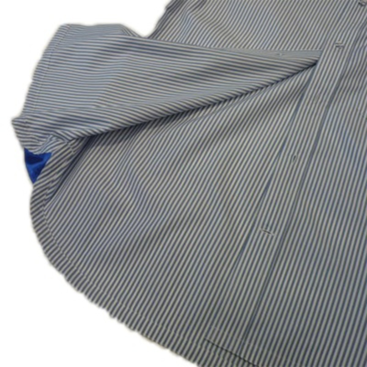 Wide Seam Stripe Half Sleeve Shirts 4