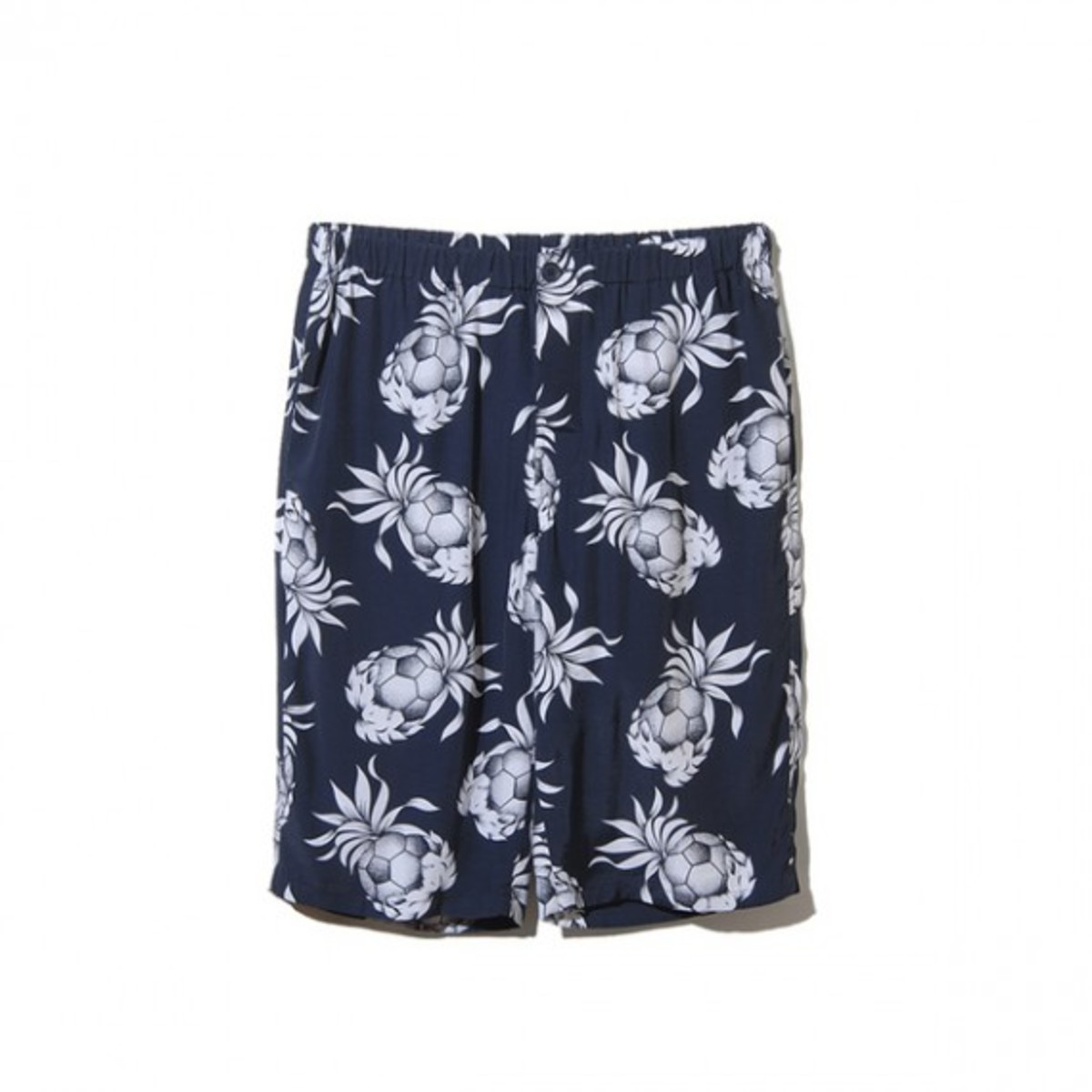 Rayon Spring Summer Pineapple Easy Shorts