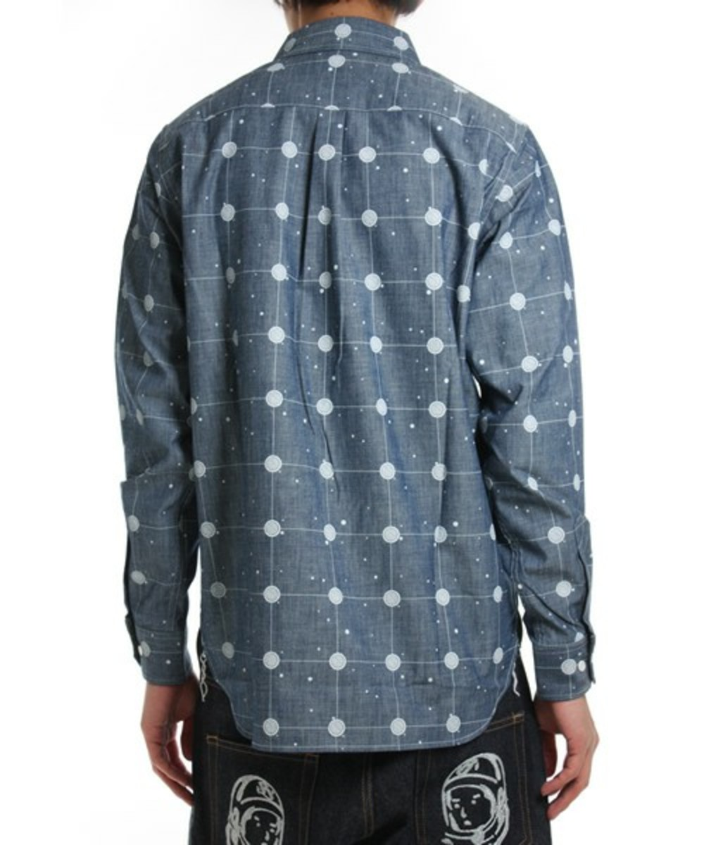 Cosmic Grid Shirt Blue 2