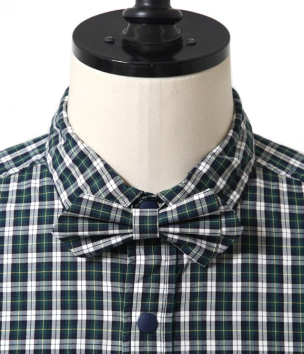 50.1 Cotton Check Bow Tie Shirt 4