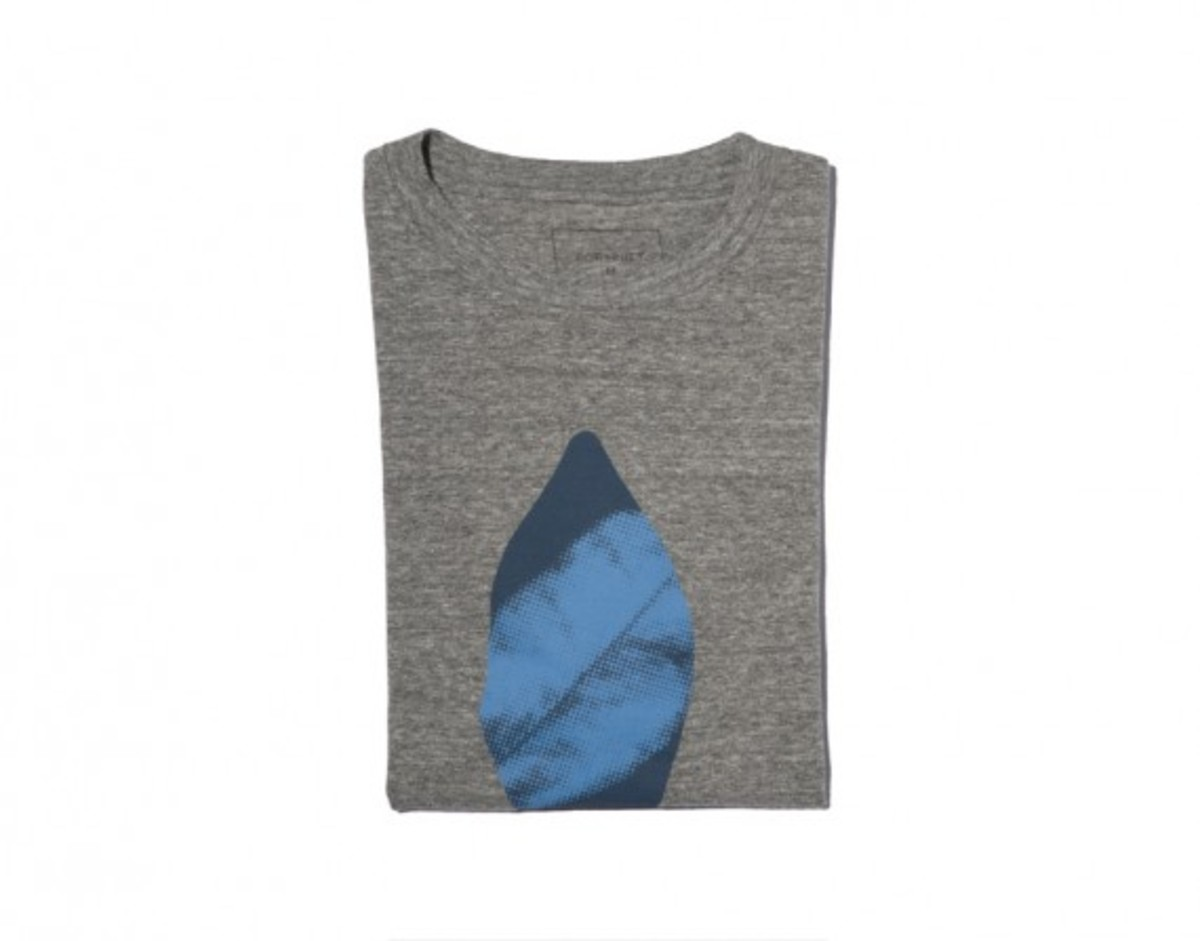 Leaf Camouflage T-shirt Gray