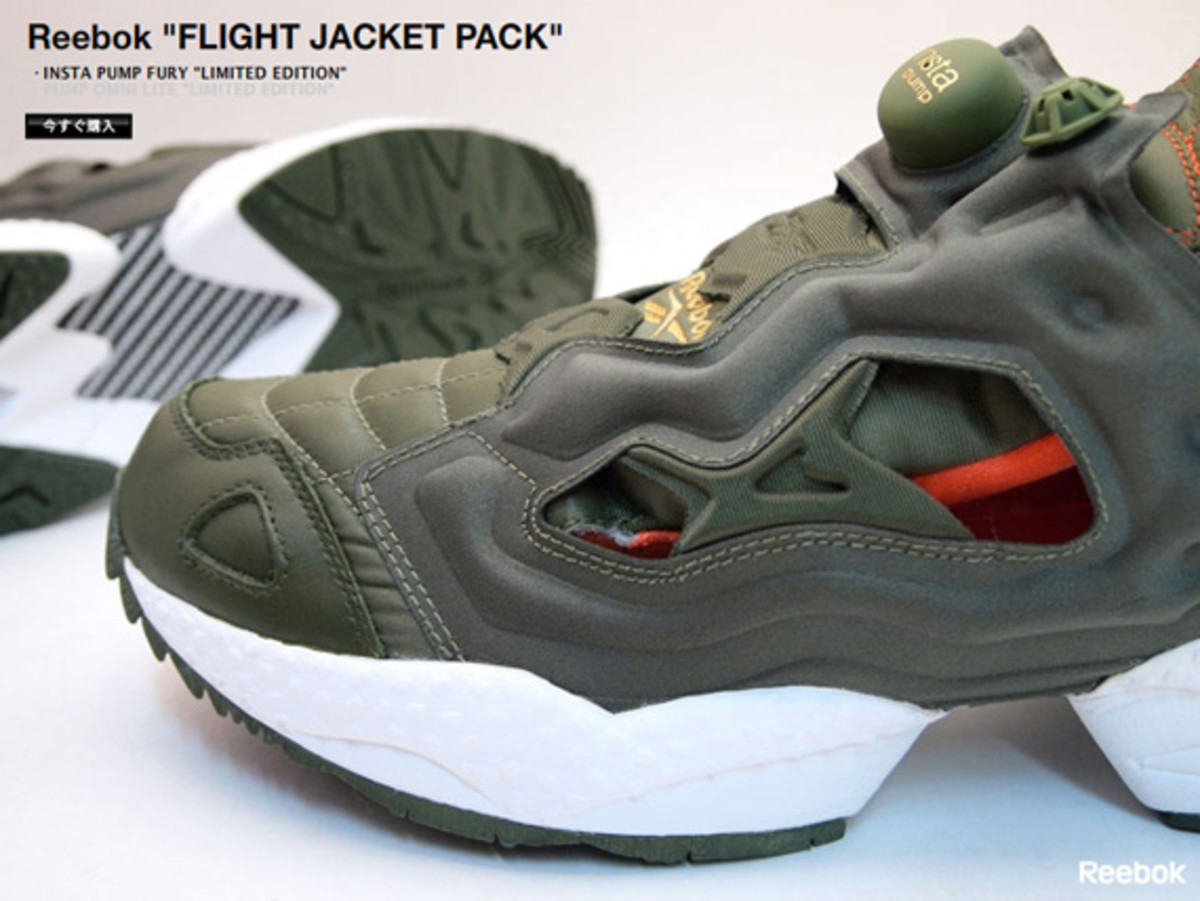 reebok insta pump fury flight jacket pack army green navy available now freshness mag. Black Bedroom Furniture Sets. Home Design Ideas
