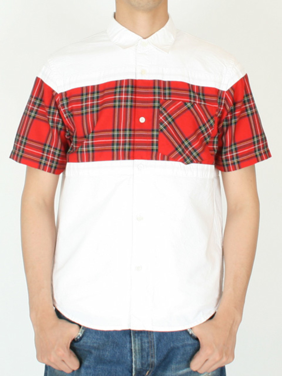 Frame Short Sleeve Shirt White Red