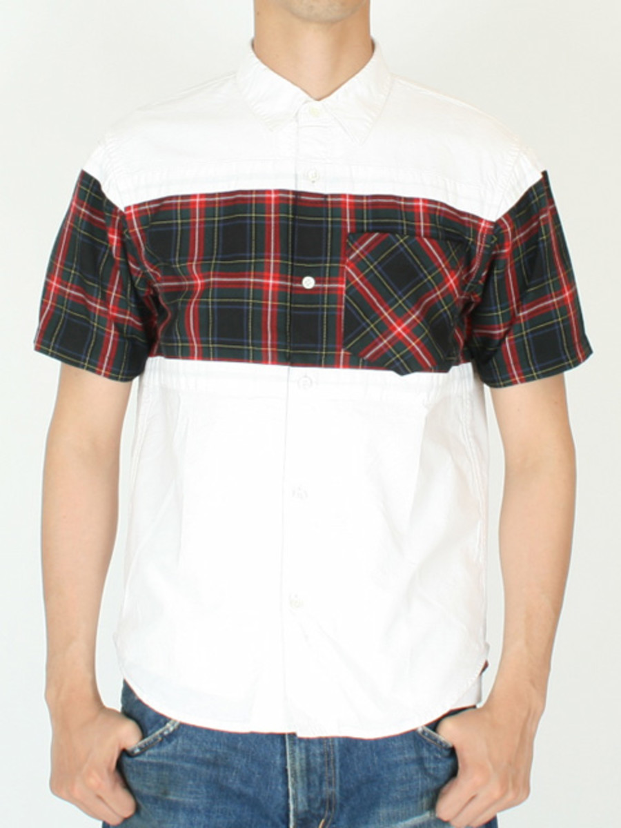 Frame Short Sleeve Shirt White Navy