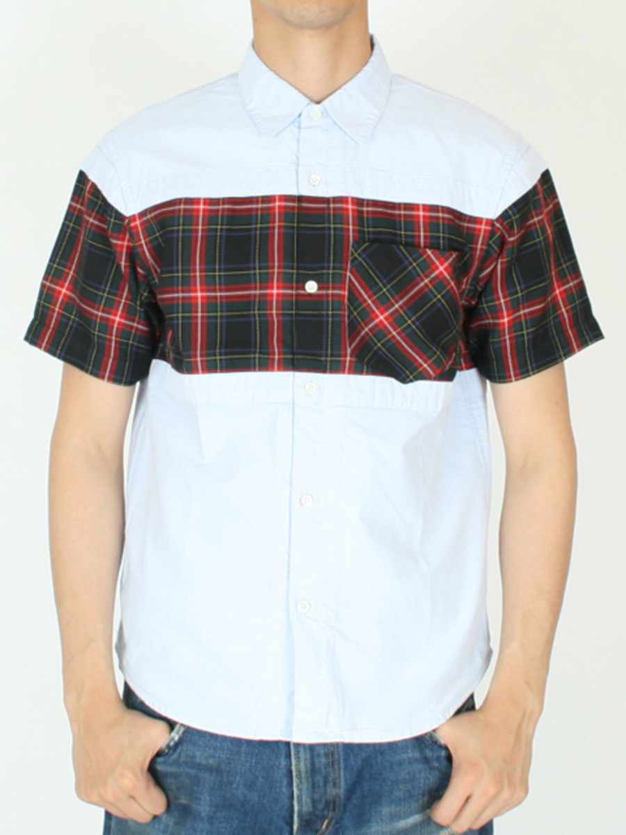 Frame Short Sleeve Shirt Blue Red