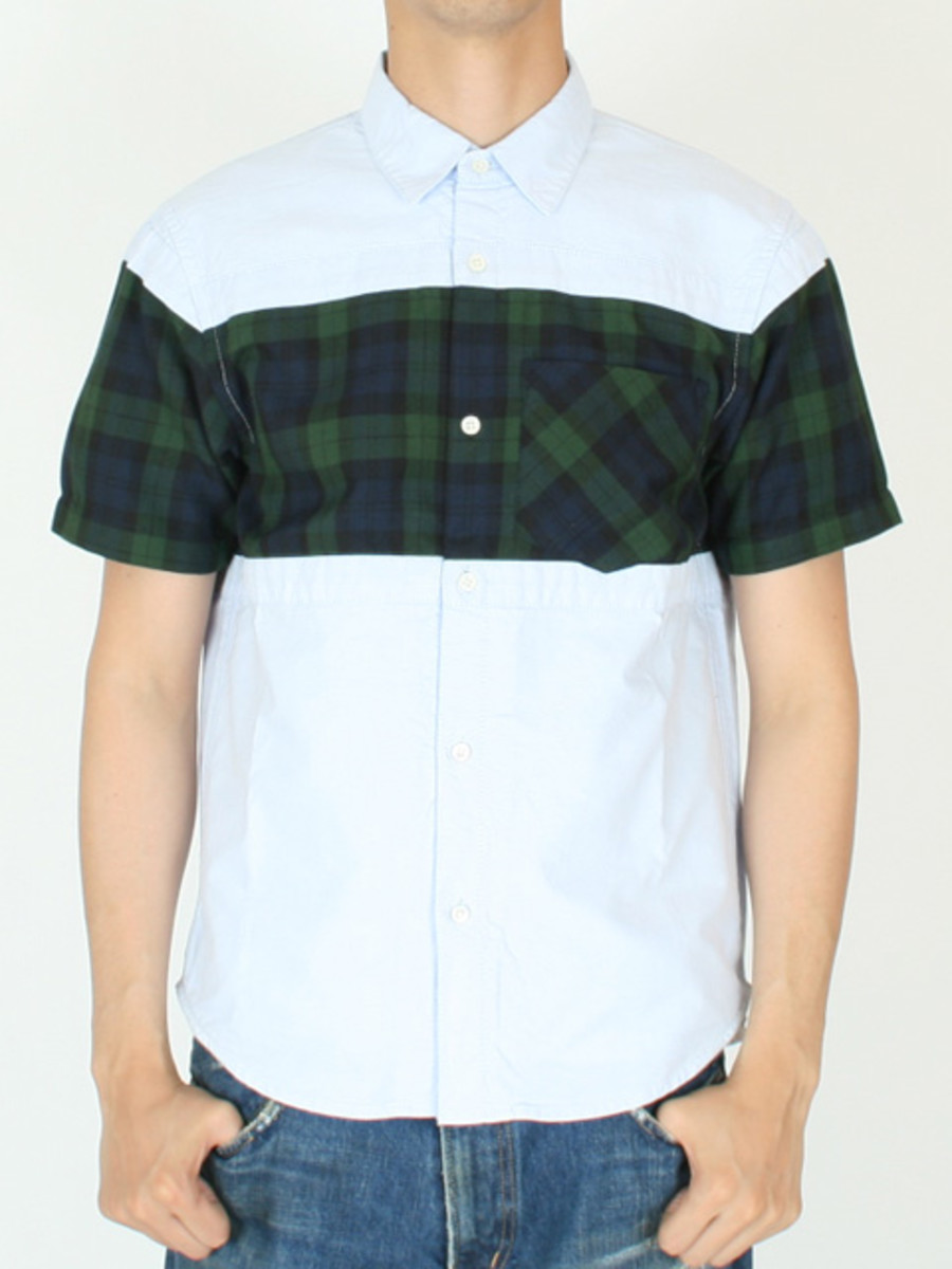 Frame Short Sleeve Shirt Blue Navy