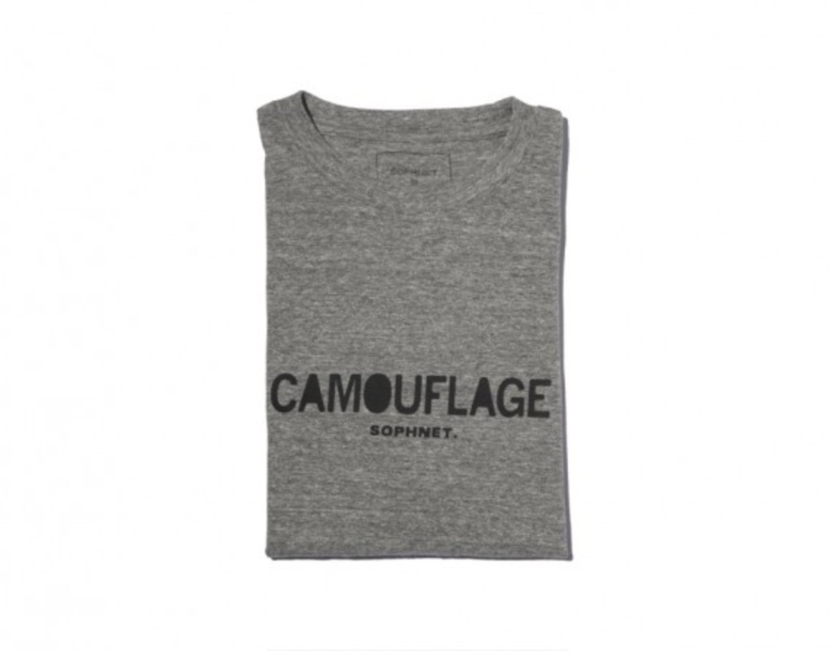 Camouflage Front Logo T-shirt Gray