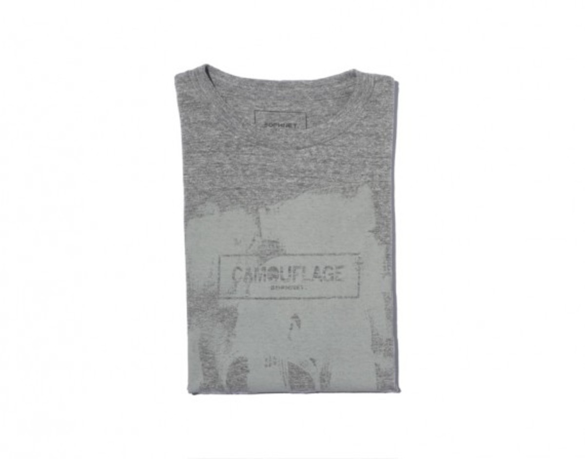 Camouflage Box Logo T-shirt Gray