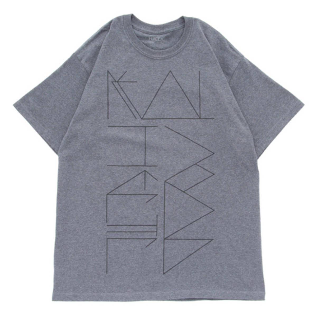 Psychedelic Lettering T-Shirt Gray