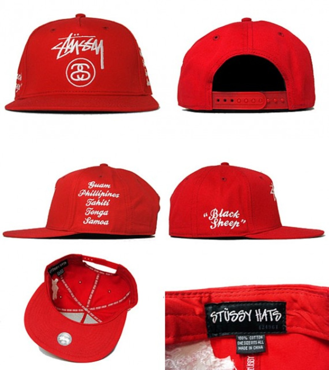 Black Sheep Snapback Cap Red 2