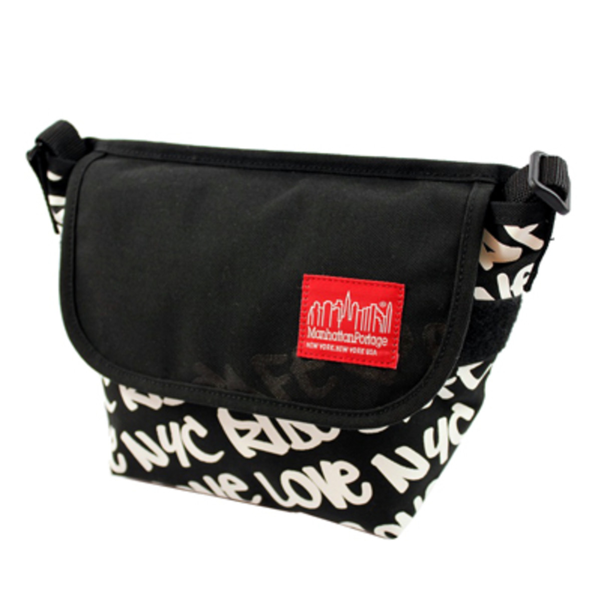 Graphic Message Casual Messenger Bag Small