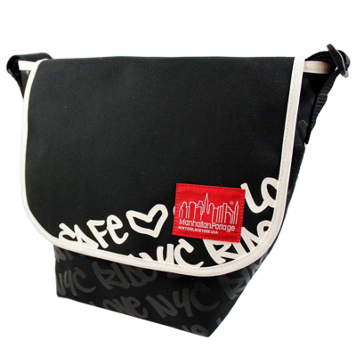 Graphic Message Casual Messenger Bag Large 5