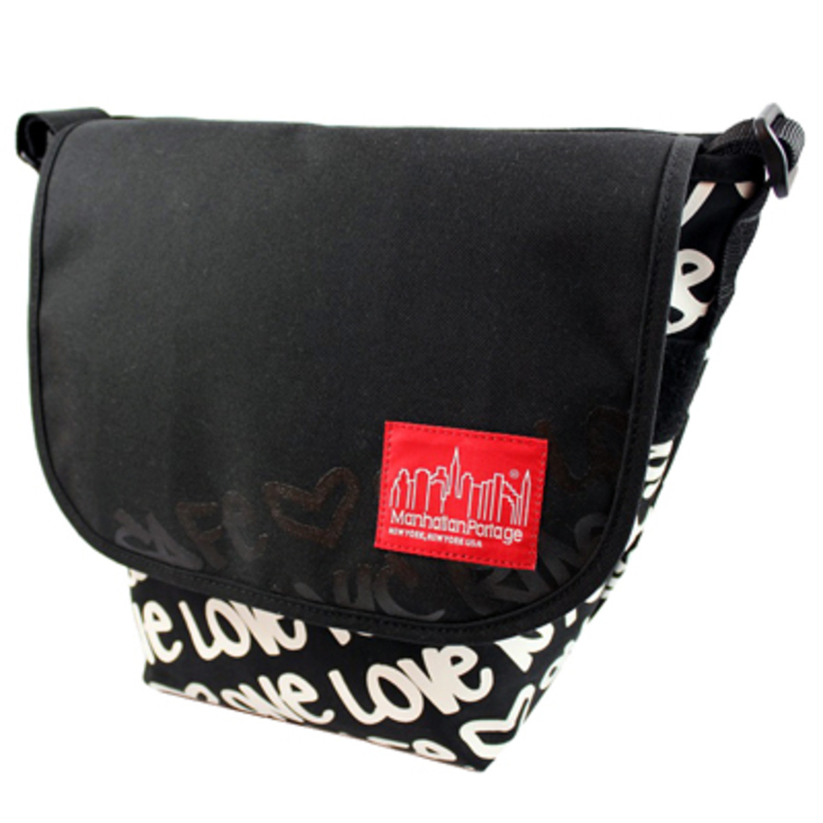 Graphic Message Casual Messenger Bag Large