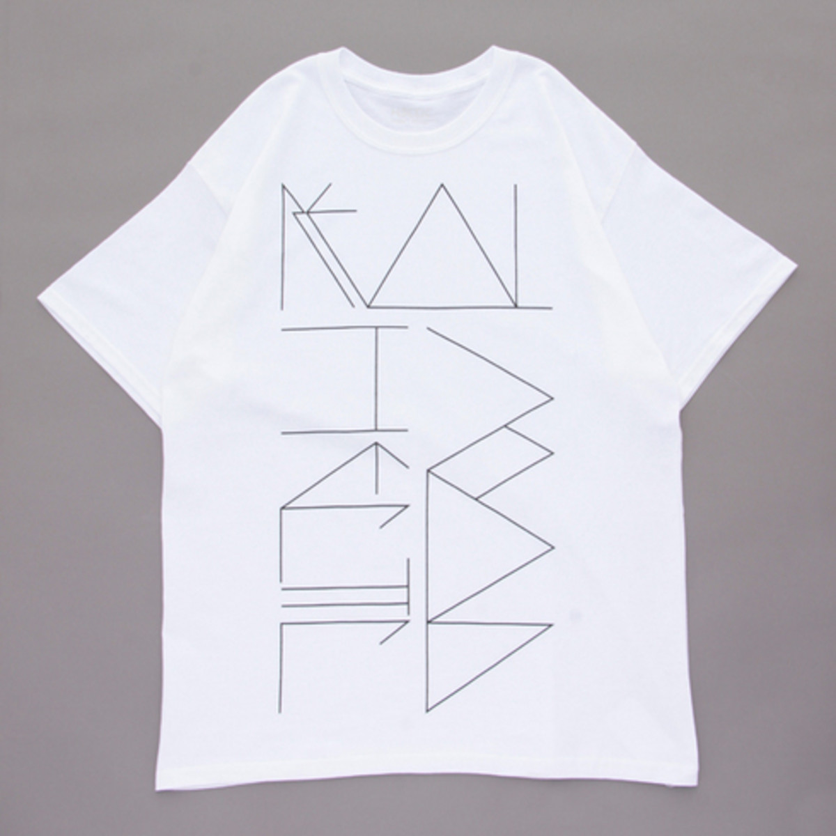 Psychedelic Lettering T-Shirt White