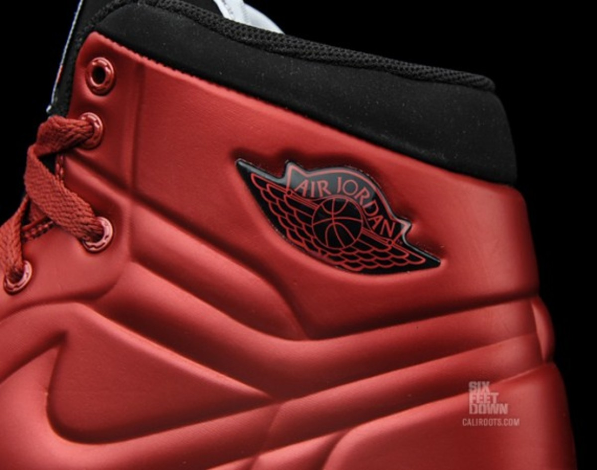 info for 45c79 42a26 Air Jordan 1 Anodized Armor Cranberry Metallic Red Black-White   Available  Now