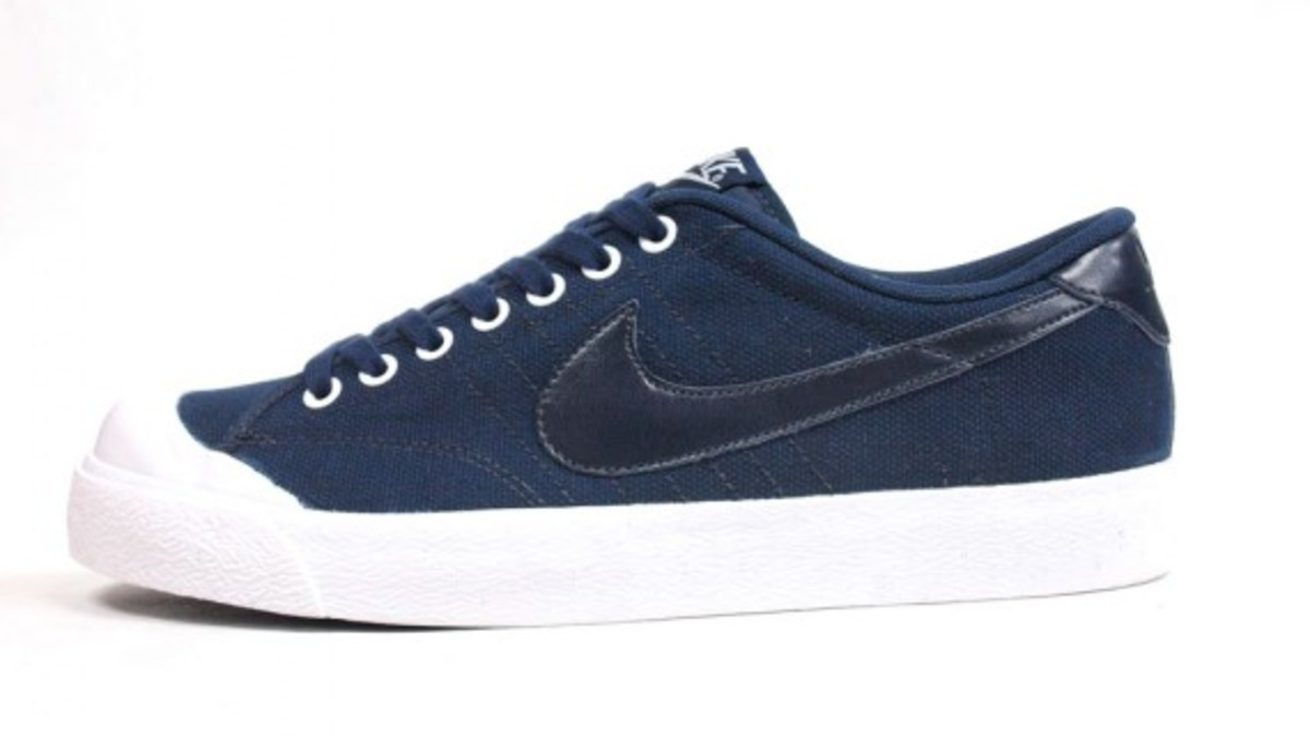 All Court Canvas Navy 3
