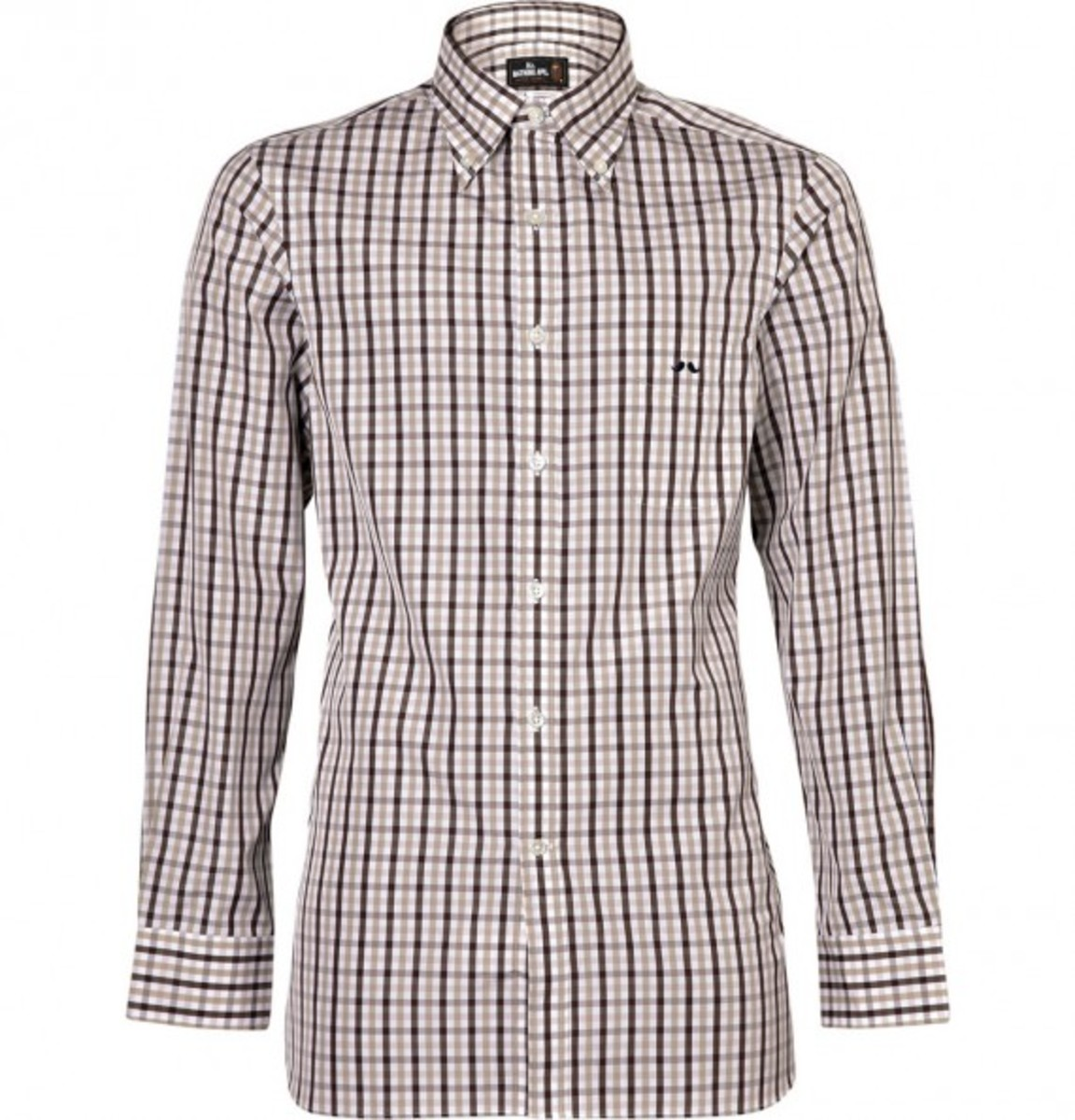 gingham-check-shirt-with-button-down-collar