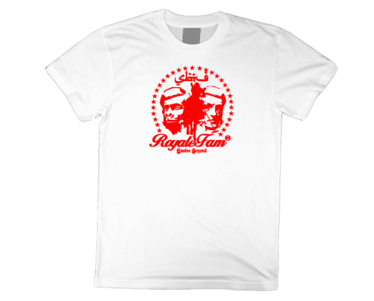 Royalefam - Original Hand Printed College T-Shirt - St. John (Home)