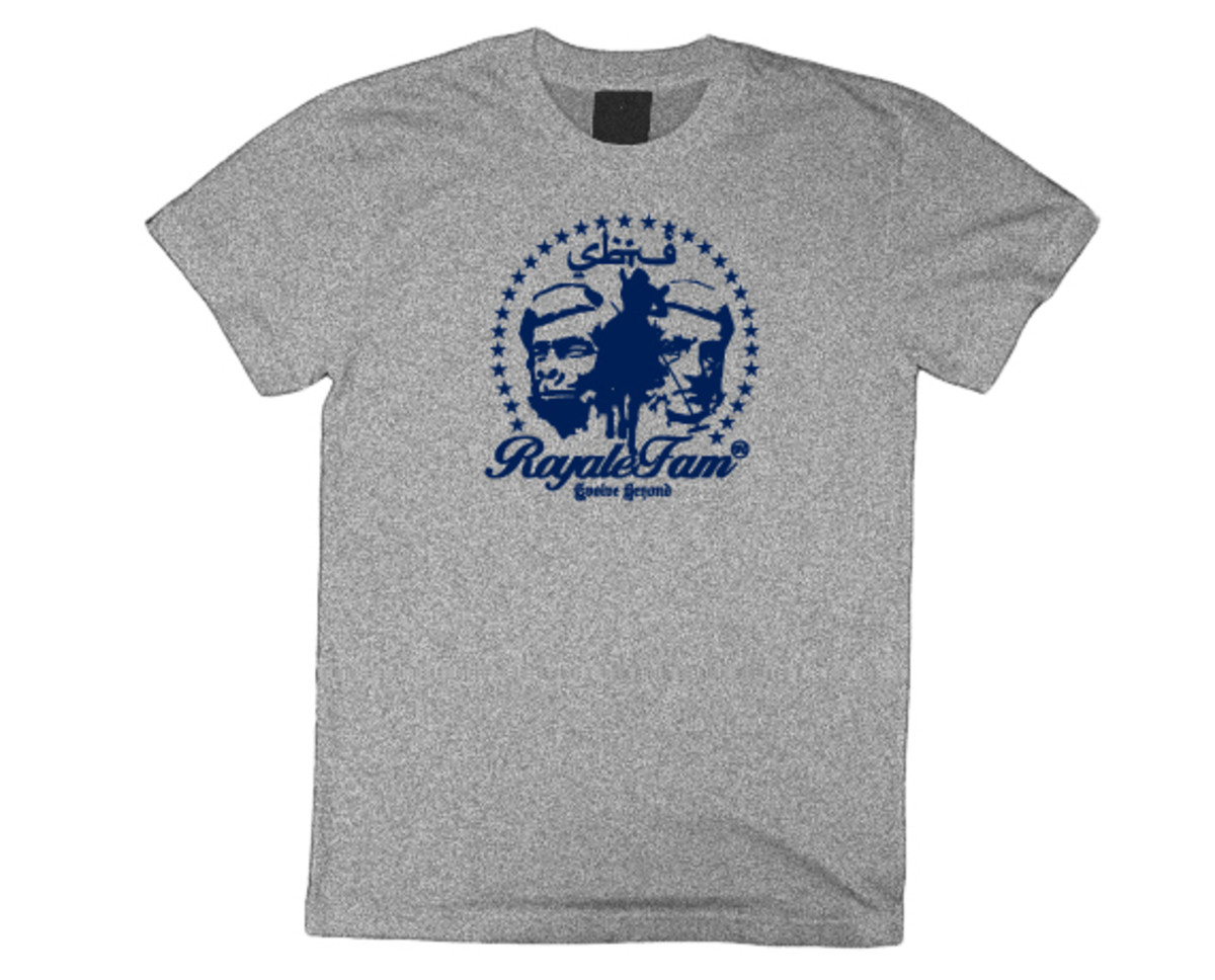 Royalefam - Original Hand Printed College T-Shirt - Georgetown (Home)